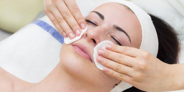 Čistenie ultrazvukom či masáž tváre s úpravou obočia a luxusné ošetrenie pleti