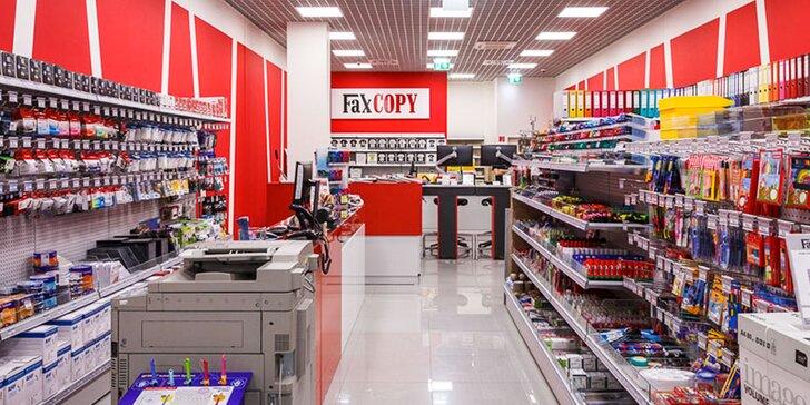 5 € za voucher v hodnote 10 € na širokú ponuku služieb v novootvorenej predajni FaxCOPY v Prešove