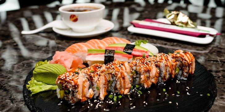 Sushi menu s polievkou: až 28 kúskov + polievka