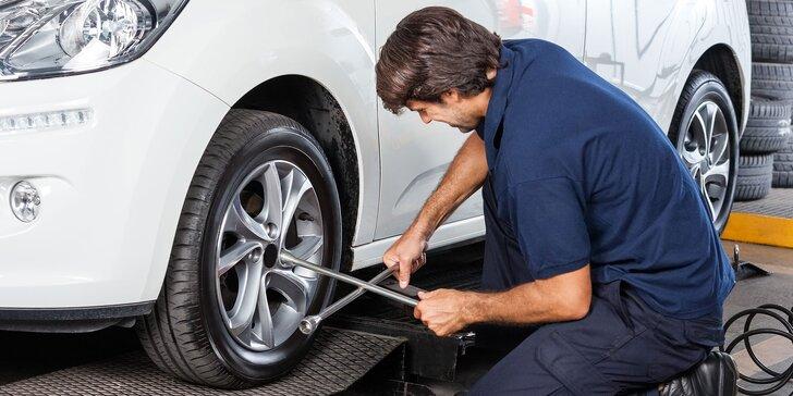 Kompletná výmena či prezutie pneumatík s vyvážením a kontrolou bŕzd