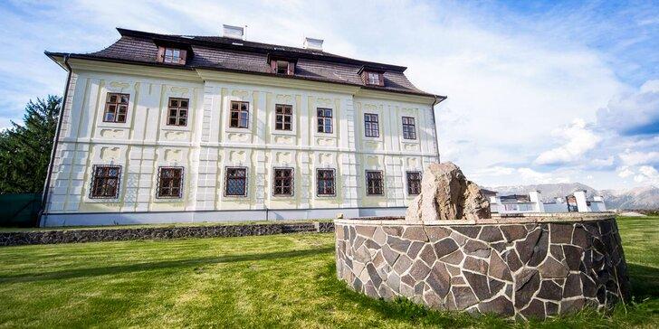 Víkendový romantický pobyt v krásne zrekonštruovanom rokokovom kaštieli Chateau Diva