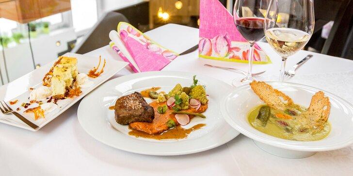 3-chodové menu v reštaurácií Posedenie Na rohu s degustáciou vín