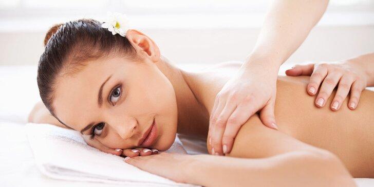 Klasická masáž chrbta, šije, rúk či celého tela