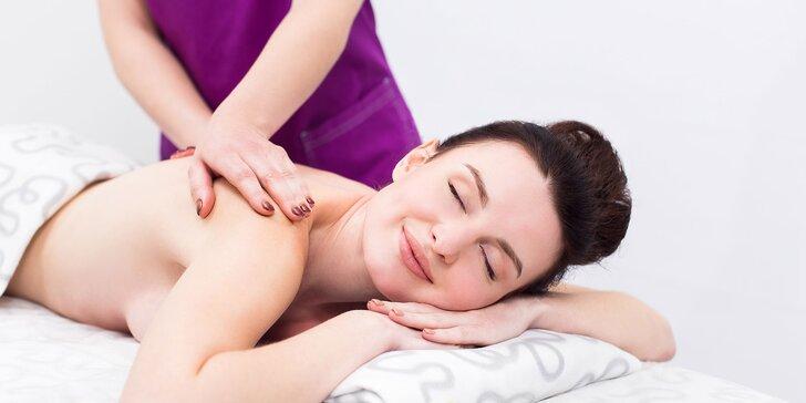 30 alebo 60 minútová masáž v Dea beauty v Karlovej Vsi