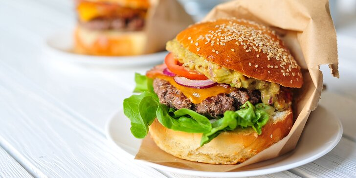 Guacamole alebo Potato burger s hranolčekmi - aj TAKE AWAY