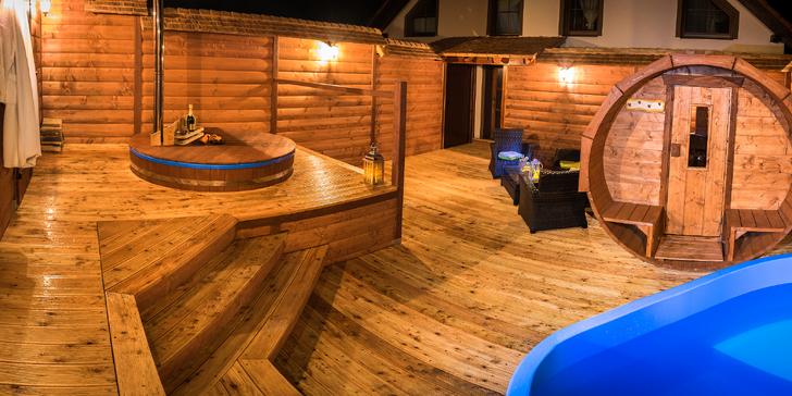 Relaxačný pobyt s vynikajúcou kuchyňou a privátnym wellness pod holým nebom v modernom penzióne