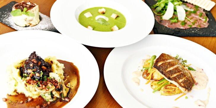 Kulinársky zážitok v reštaurácií Příčný řez: Degustačné 5-chodové menu