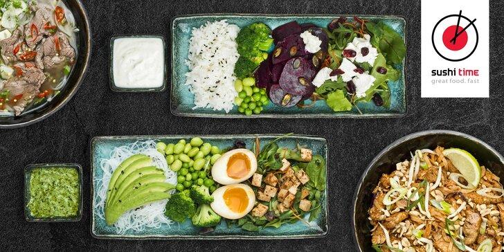 Vyskúšajte nové menu v Sushi Time: Kredit 30€ na čokoľvek z ponuky