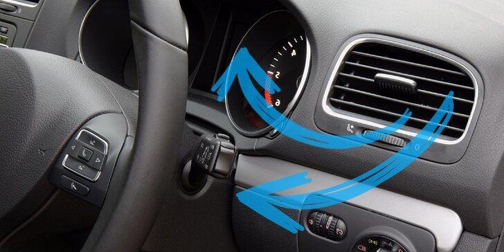 Kontrola vozidla, či čistenie a dezinfekcia klimatizácie ozónom s možnosťou plnenia