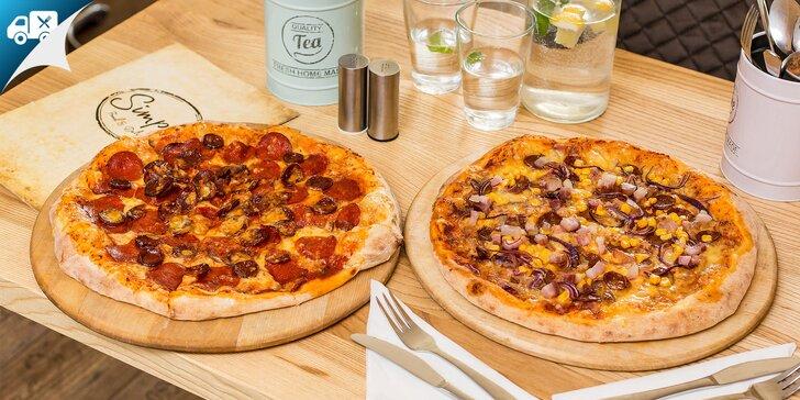 Pizza 1+1 zdarma s rozvozom alebo so sebou v Simpl Food Delivery