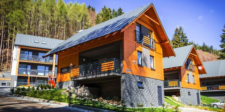 Luxusná chata pre 9 až 14 osôb s 50% zľavou do nového wellness v areáli Wellness Penziónu Ferrata pod Martinskými hoľami