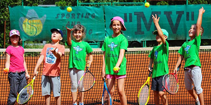 5-dňový denný tenisový tábor pre deti od 4 do 14 rokov. Leto 2018!