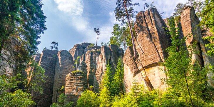 Relax v prírode Adršpachu: polpenzia so zmrzlinovým barom, termíny až do jesene