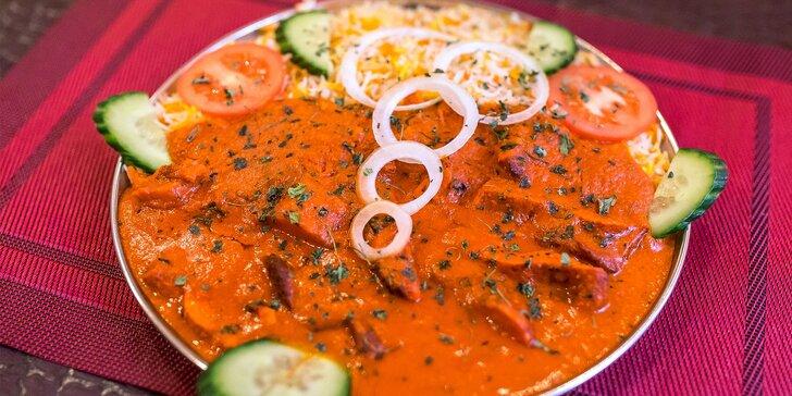Chicken tikka masala alebo butter chicken s basmati ryžou