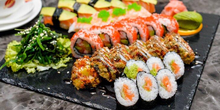 Sushi menu s polievkou: 12 alebo až 28 kúskov