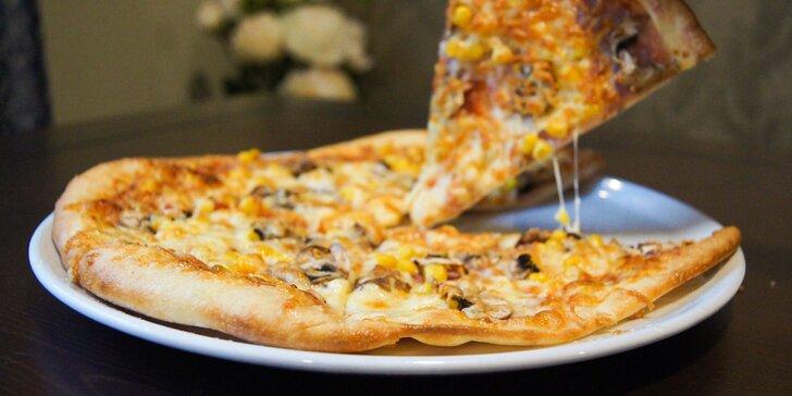 Pizza podľa vlastného výberu v reštaurácii Kalvín