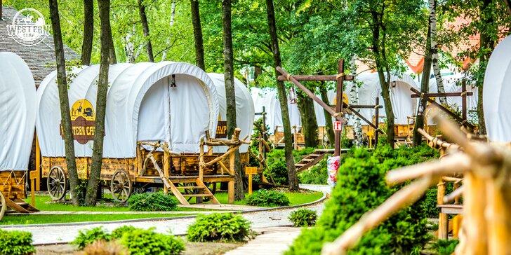 Netradičné ubytovanie v komfortnom, klimatizovanom kočovníckom voze Divokého západu - Western Camp