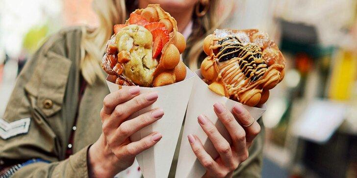 Bubble Waffle sladké maškrty v Bratislave