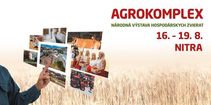 Lístok s prednostným vstupom na výstavu AGROKOMPLEX 2018