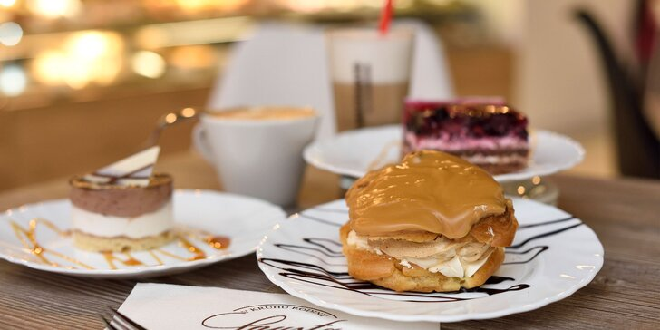 Vysokokvalitná káva Brosio s koláčom na výber alebo Limonáda s koláčom