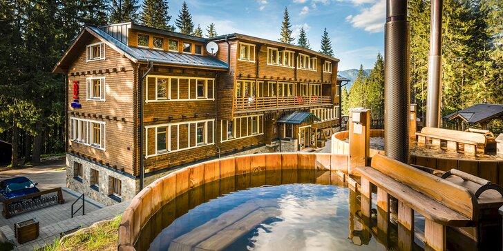 Leto alebo Jeseň v lesnom prostredí Jasnej v obľúbenej Björnsonke*** s aktivitami a neobmedzeným wellness s kaďami a saunou