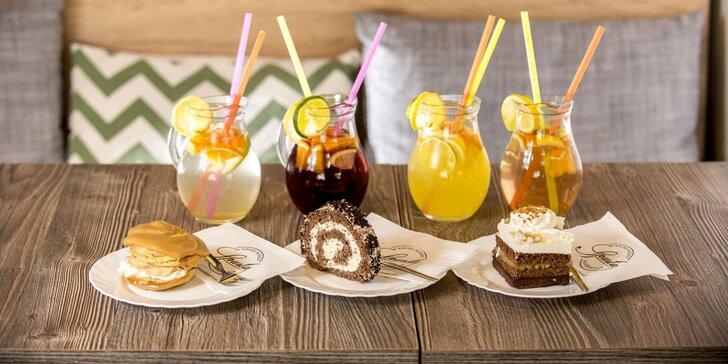 Vysokokvalitná káva Brosio alebo domáca limonáda s koláčom