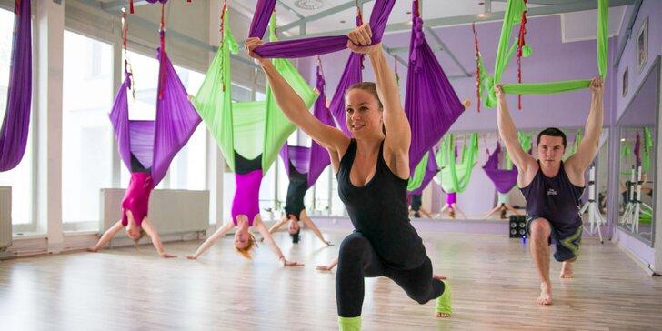 FLYFIT cvičenie, súkromný tréning vzdušnej akrobacie alebo 7-dňový program chudnutia s diagnostikou