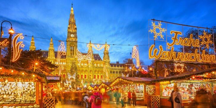 Vianočné trhy vo Viedni s prehliadkou mesta
