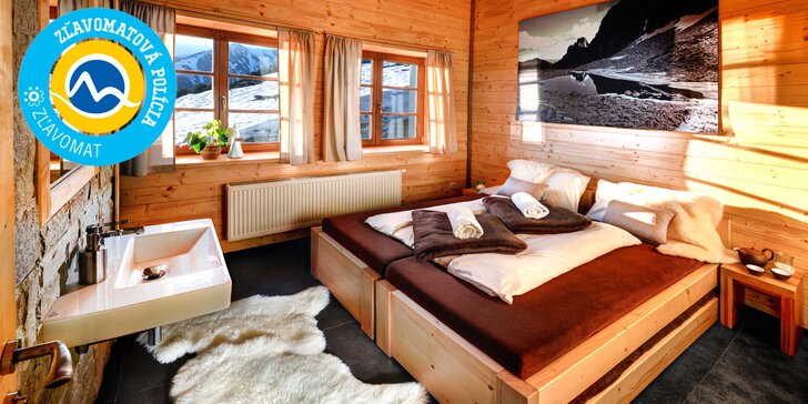 Jedinečný pobyt v Chate pod Soliskom v nadmorskej výške 1840 m n. m. v krásnej izbe s romantickou večerou