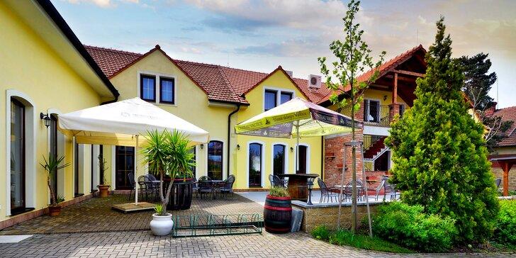 Penzión vo Valticiach, apartmán s vírivkou, raňajky a 10% zľava na večernú degustáciu vín