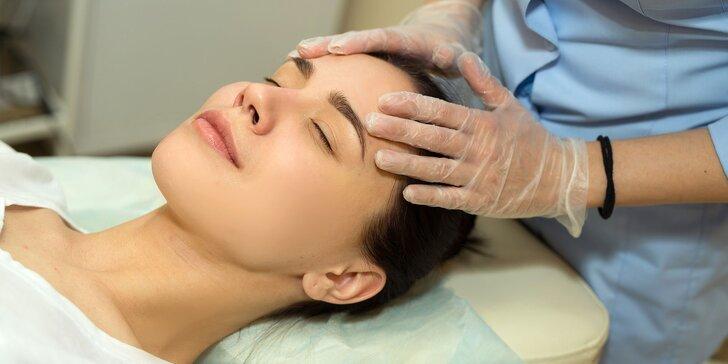 Hĺbkové čistenie pleti či masáž tváre a okolia s úpravou obočia