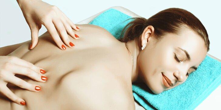 Klasická masáž chrbta a krku alebo celého tela s možnosťou infrasauny