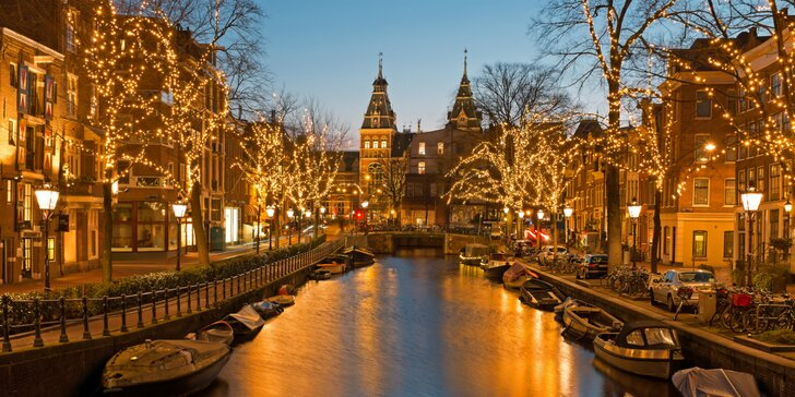 Vianočný Amsterdam, festival svetiel s návštevou čarovnej adventnej jaskyne