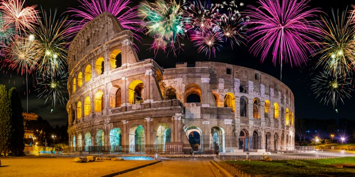 Silvester vo veľkom štýle! Obdivujte ohňostroj nad Koloseom v Ríme