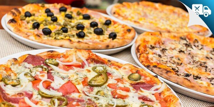 Klasická alebo bezlepková/bezlaktózová pizza na rozvoz či take-away