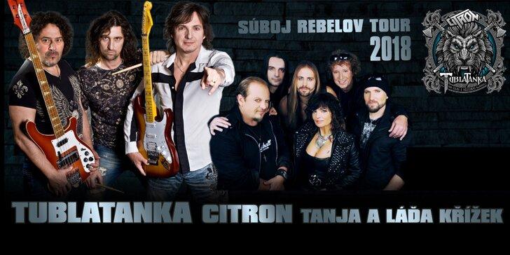 Skvelé lístky na turné skupiny Tublatanka - Súboj rebelov