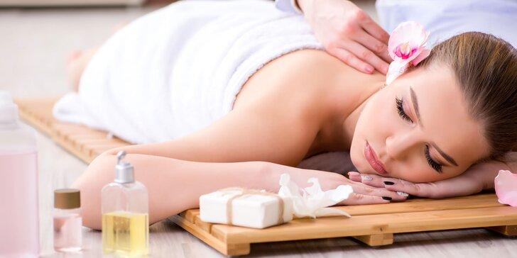 Relaxačná či aróma masáž s reflexnou masážou chodidiel