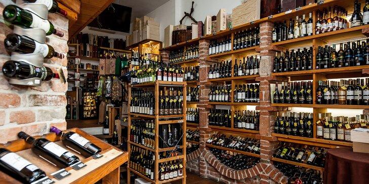 Otvorený voucher na nákup svetových a slovenských vín
