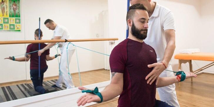 Vstupné vyšetrenie s konzultáciou a SM cvičenie s terapeutom