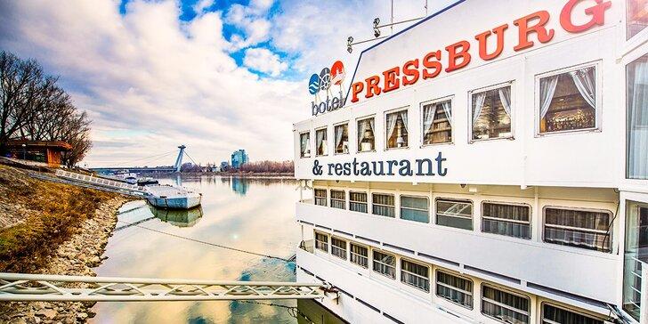 Netradičný pobyt v bratislavskom boteli Pressburg*** na modrom Dunaji