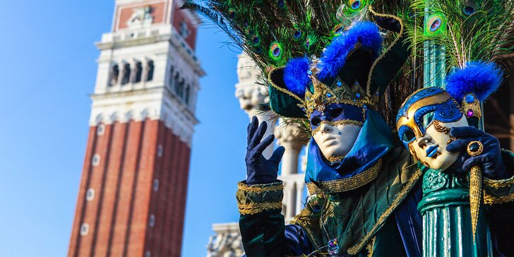 Svetoznámy karneval v Benátkach a prehliadka Verony