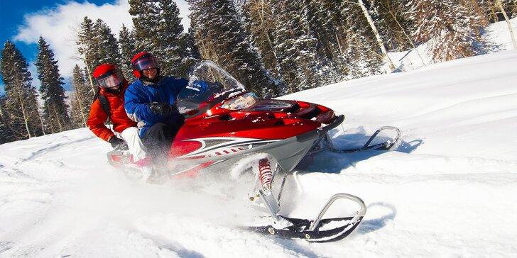 Adrenalín na snežných skútroch v Slovenskom rudohorí