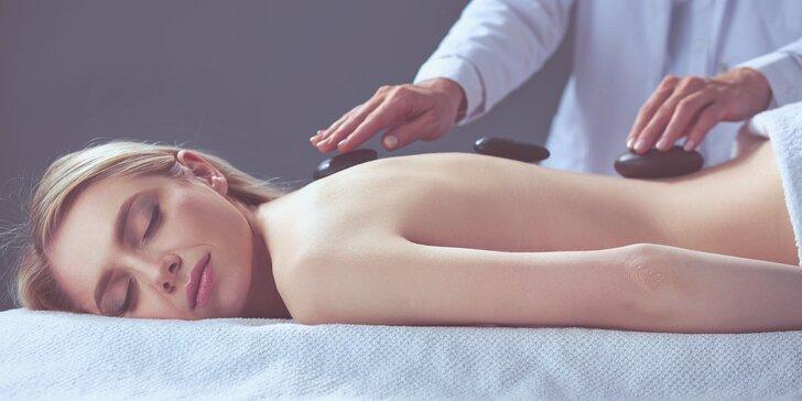 Celotelová masáž lávovými kameňmi alebo aromamasáž chrbta - v ponuke aj permanentka