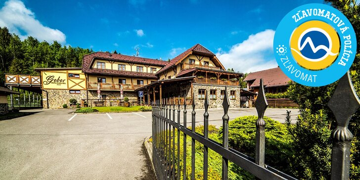 Obľúbený Wellness Hotel Gobor*** v Západných Tatrách v krásnom prírodnom prostredí pri SKI strediskách a 2 aquaparkoch. 1 dieťa do 12 r. zdarma!