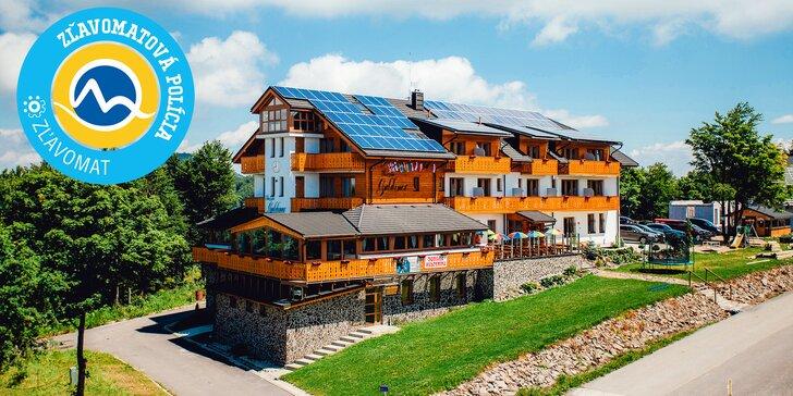 Wellness & Šport alebo Ski pobyt priamo na svahu v modernom penzióne GULDINER*** na vrchole Kremnických vrchov vo výške 1205 m n. m.