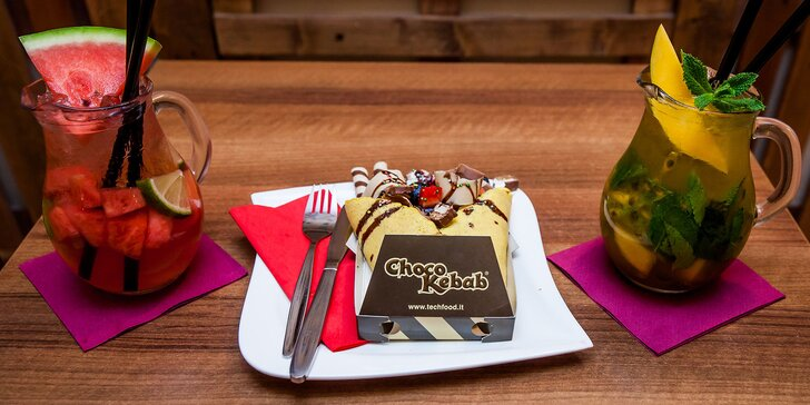 Výborný choco kebab, selfiecino, raňajky či čokoláda v Spezax Caffé