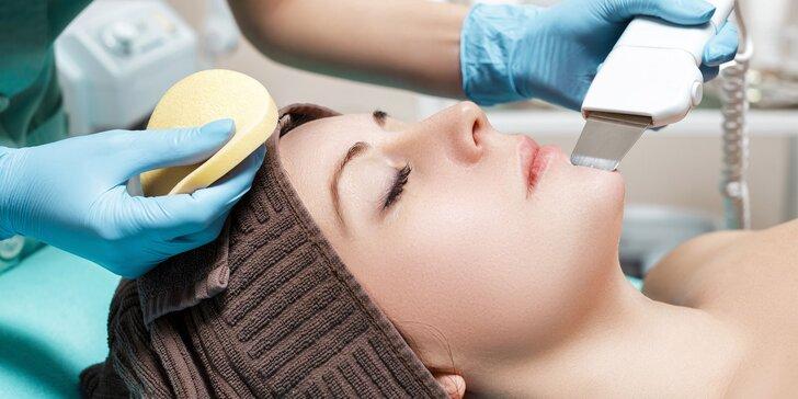 Hĺbkové čistenie pleti s masážou tváre a úpravou obočia