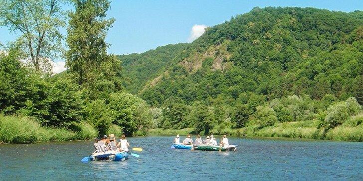12 kilometrový splav Hrona na rafte alebo kanoe