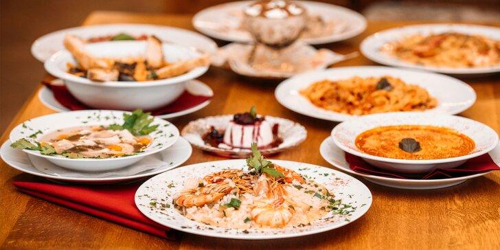 3-chodové menu pre 1 osobu v talianskej reštaurácií La Pekora Nera