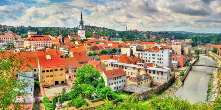 Relax a výlety v Třebíči: polpenzia, vstupenky na pamiatky UNESCO či do aquaparku